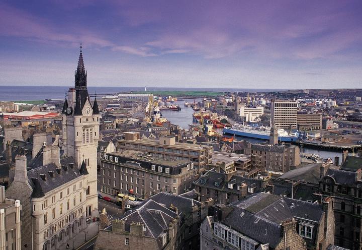 Blick über Aberdeen