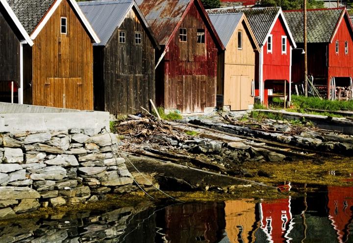 Bootshäuser in Norwegen
