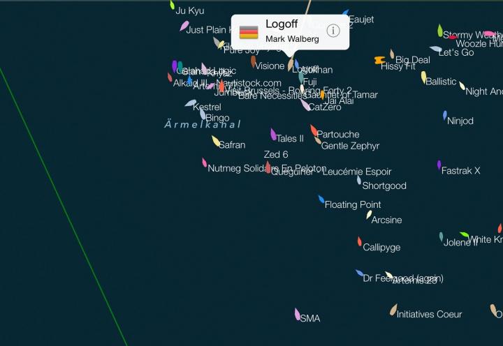 Trackerinfo Fastnet Race 2015