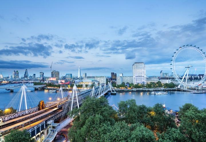 Blick über die Temse in London