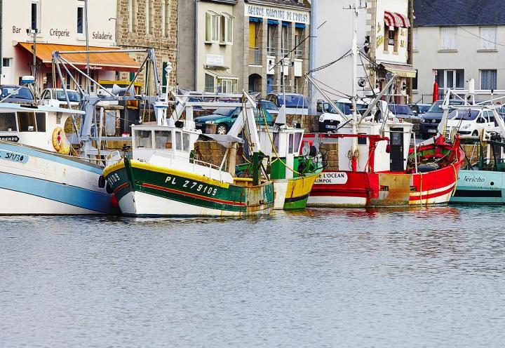 Fischerboote im Stadthafen von Paimpol