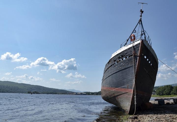 Schiffswrack bei Oban