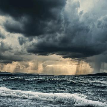 Schwerwetter auf See