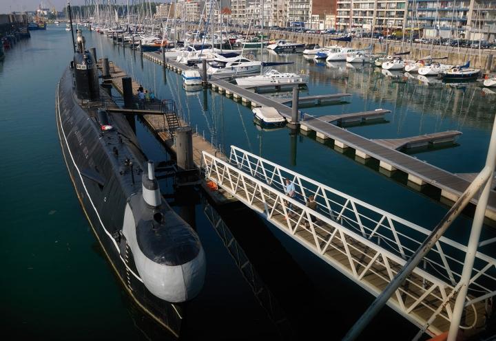 U-Boot im Yachthafen von Zeebrügge